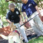 Bomb-sniffing dog in training meets family of 9/11 hero
