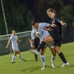 Women&#8217;s soccer wins first home game