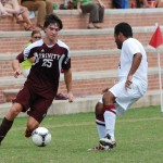 Mens soccer wins over friends and family weekend
