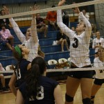 Volleyball ties for first place in conference