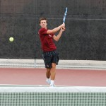 Men's tennis plays three tough matches
