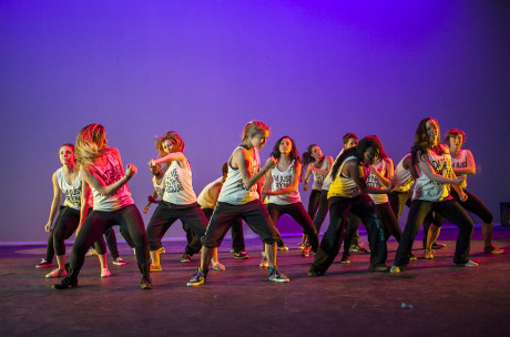 Trinity's hip-hop dance group, Looney Crew, dances at Momentum last spring. The group often participates in many of the dance performances on campus. Photo by Amh-Viet Dinh