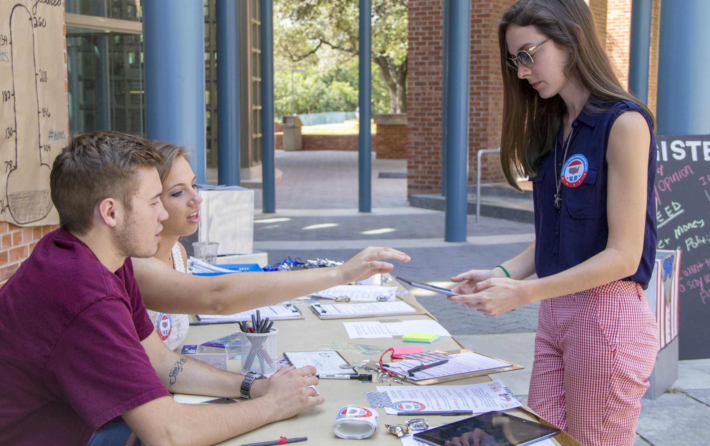 Register to vote. Photo taken by MaryVanderbloemen.