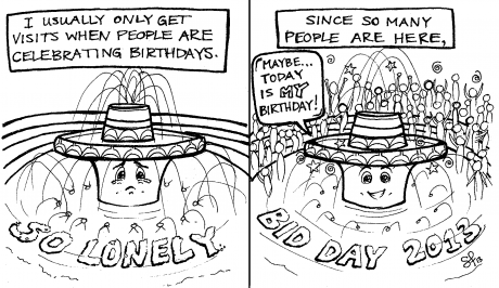 Cartoon by Sarah Fulton.
