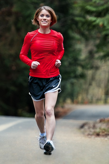 Renae Goettel, '08, discovered her passion for running after graduating from Trinity and has since run two marathons, as well as the Boston Marathon, on Monday, April 15, when the two bombs exploded near the finish line preventing her from finishing the race. Photo courtesy of Renae Goettel.