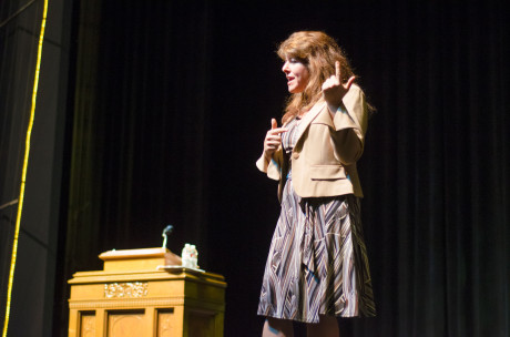 Political writer and activist Naomi Wolf gave the 2013 Maverick Lecture in Trinity's Stieren Theater on November 19. In her presentation, titled